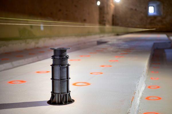 I supporti Pedestal Line utilizzati nell'intervento di riqualificazione di Castel Thun in Trentino