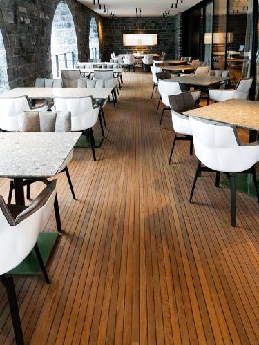Gli eleganti arredi dell'hotel il Sereno sul Lago di Como