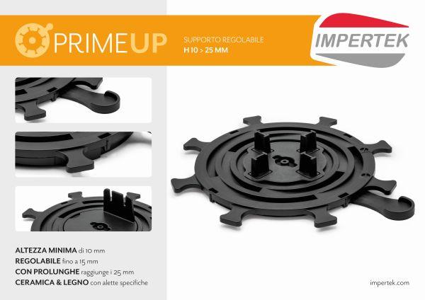Prime Up è il supporto regolabile di Impertek alto 10 mm che può arrivare a 25 mm