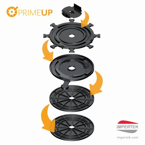 Prime Up è il supporto di Impertek alto 10 mm che può arrivare fino a 25 mm