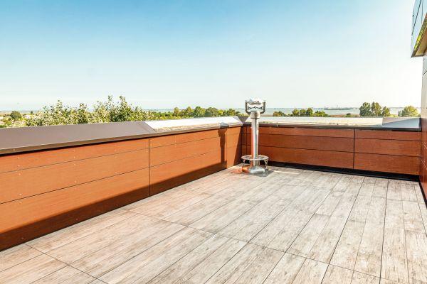 Supporti PEDESTAL LINE di Impertek per la meravigliosa terrazza dell'Antony Hotel a Venezia