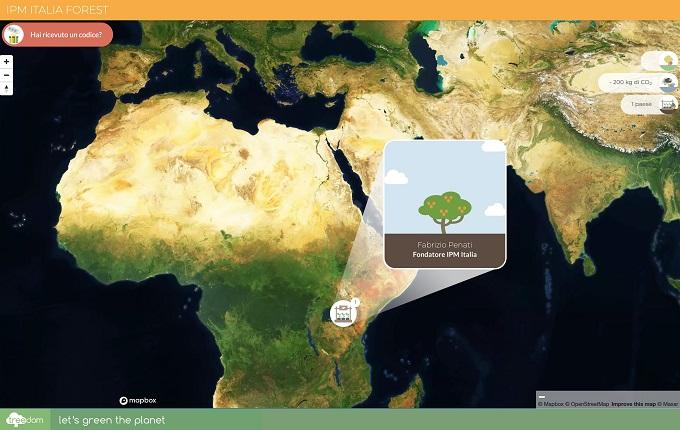 Mappa per monitorare l'andamento della foresta