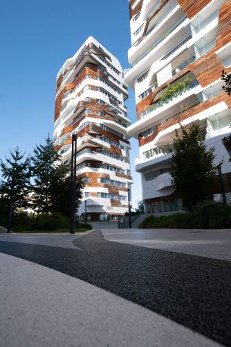 Pavimentazione IPM Geodrena per l'esterno delle residenze Hadid a Milano