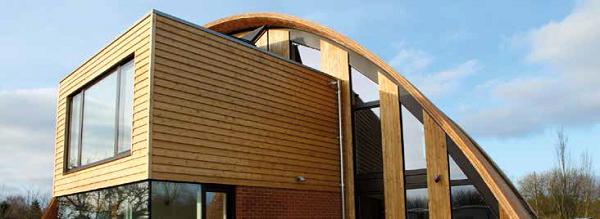 casa in legno prefabbricata con l'utilizzo di lastra LaDura Plus