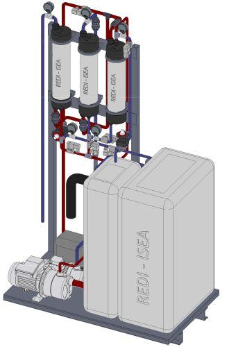 Sistema Redi per il recupero delle acque grigie ad uso domestico