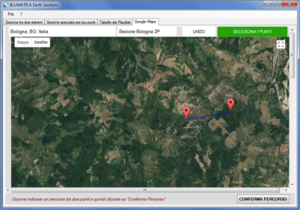 Importazione percorso da Google Maps sul software