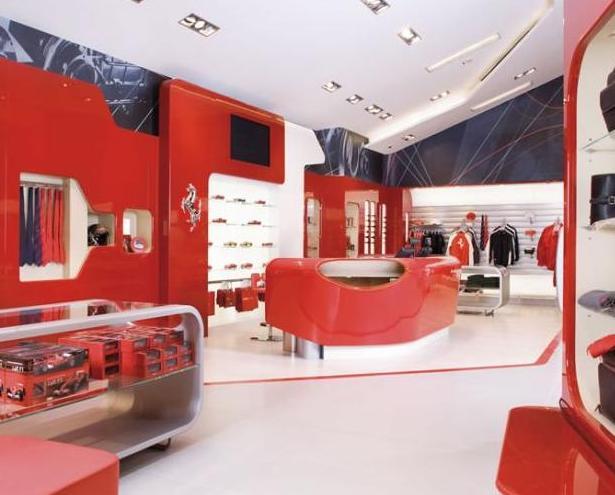 Interno del Ferrari factory store
