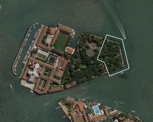 Isola di San Giorgio a Venezia, in cui verranno allestite le 11 cappelle del Vaticam Chapels