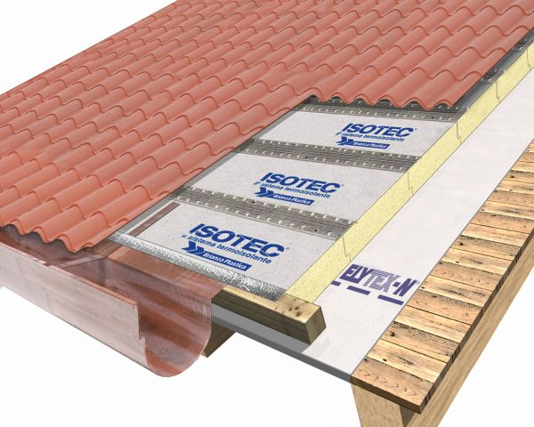 Isotec linea - lastre effetto tegola su legnoHD