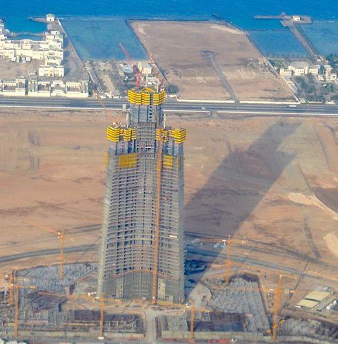 Jeddah Tower, in Arabia Saudita, grattacielo in calcestruzzo