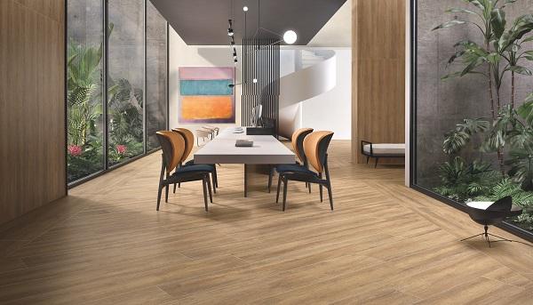 Pavimenti in gres effetto legno della linea beat
