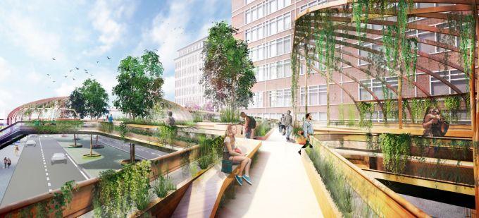 Knowledge Mile Park Bridge è un ponte che collegherà gli edifici del campus di Amsterdam