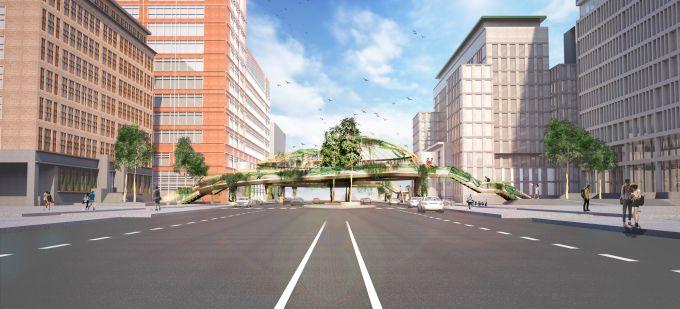 Knowledge Mile Park Bridge: ponte ecologico per il campus di Amsterdam