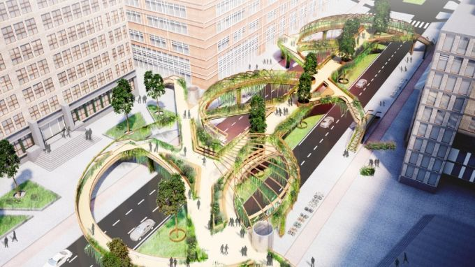 Knowledge Mile Park Bridge: ponte ecologico per il campus di Amsterdam