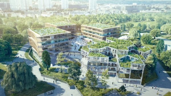 L'Ecole d'Architecture de Nanterre, vista di insieme