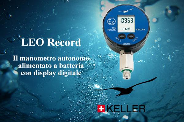 Test di pressione su condotte idriche con LEO Record di Keller
