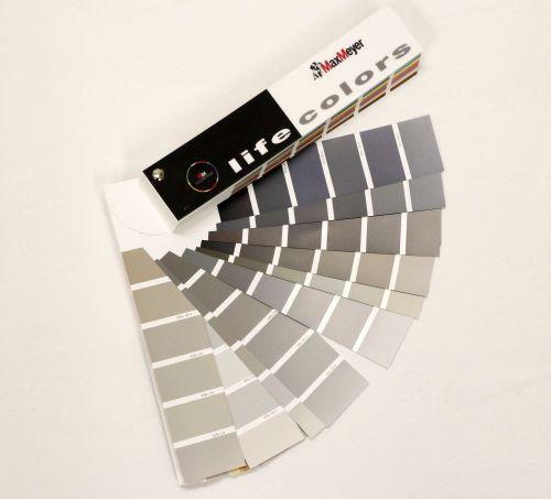 Mazzetta colori grigi Life Colors di MaxMeyer