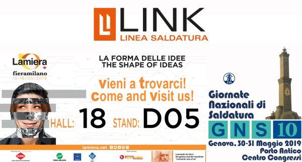 Link Industries protagonista a maggio di 2 manifestazioni sulla saldatura: Lamiera e GNS