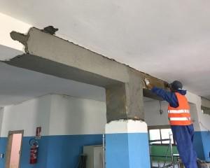 Sistemi di rinforzo Ruregold per la messa in sicurezza sismica di una scuola