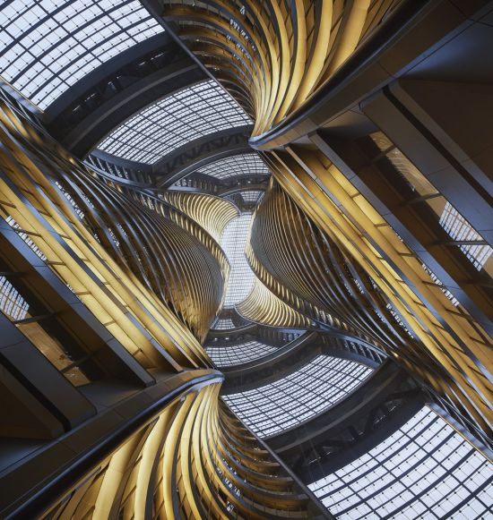 Leeza SOHO Tower, l'atrio interno