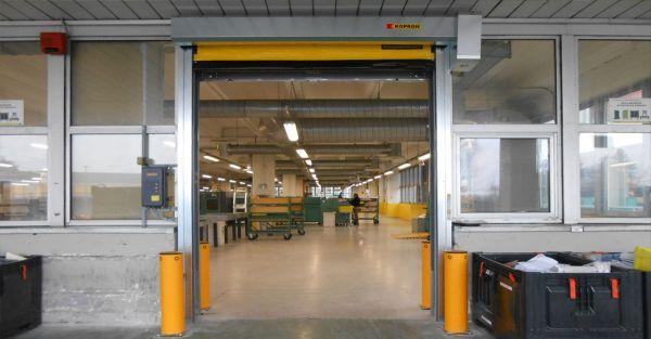 Le porte Kopron per il centro di meccanizzazione di Poste Italiane a Bologna