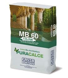 Sistema Bio-Architettura Linea PURACALCE MB 60 COLORATA MB 60 COLORATA Malta per muratura faccia a vista colorata