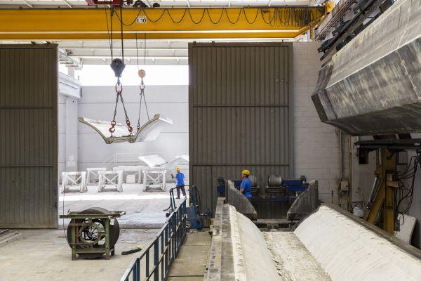 Magnetti building: la produzione