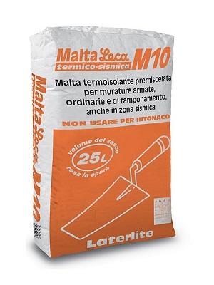Malta Leca M10 Termico-Sismica - malta termoisolante anche per zone sismiche