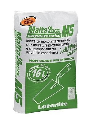 Malta Leca M5 Supertermica - malta termoisolante