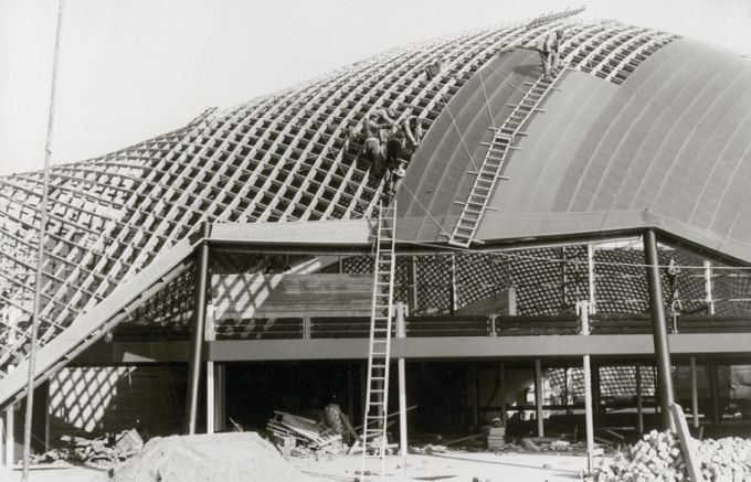 gridshell, progetto Mannheim Multihalle