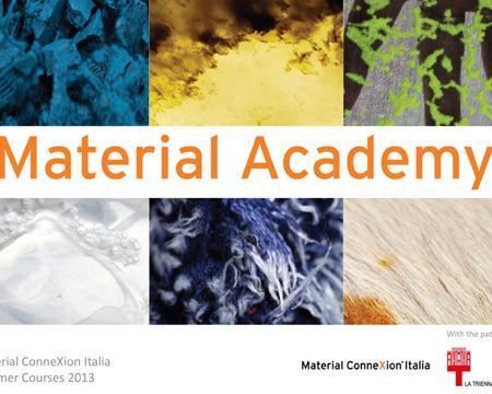 Material academy corsi sui materiali per il design for Materiali per il design