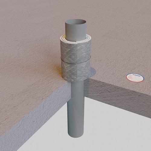 Protezione antifuoco per attraversamento di tubi metallici