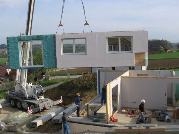 Montaggio casa prefabbricata in legno