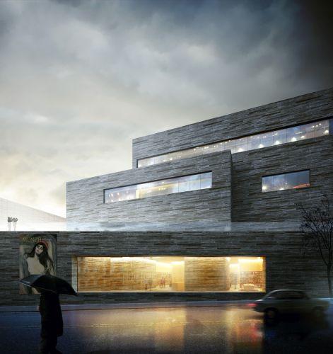 Facciata del National Museum of Art, Architecture and Design di Oslo