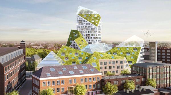 progetto architettonico a Eindhoven in cui il verde diventa protagonista