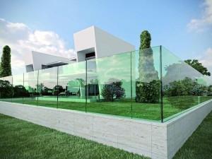 Ninfa, balaustre tutto vetro per interni ed esterni