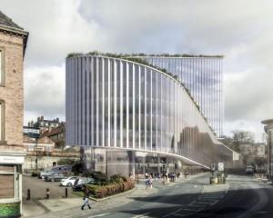 A Newcastle un edificio per uffici ispirato alle colline