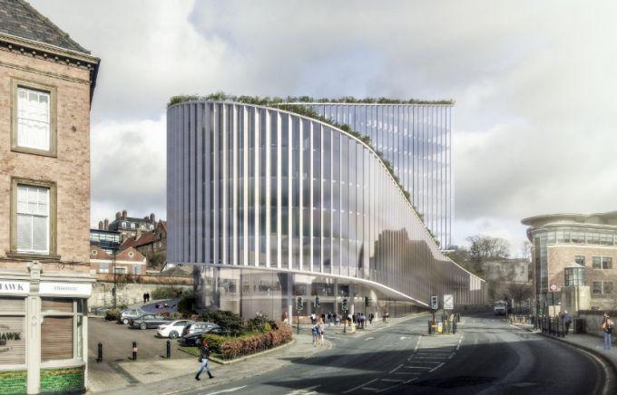 No.1 Quayside edificio per uffici ispirato alle colline a Newcastle