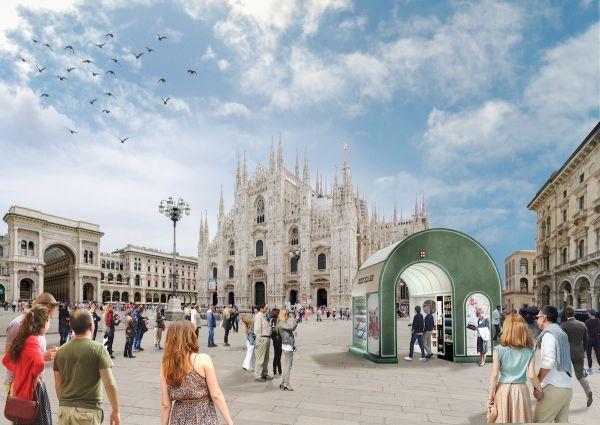 Arcade, progetto dell'edicola del futuro di Fabio Novembre Studio