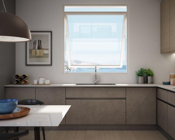 La finestra Prolux Swing di Oknoplast si caratterizza per apertura dell'anta verso l'esterno