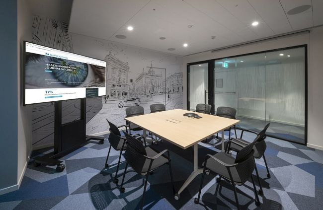 Nuova sede NOW di Oliver Wyman, una delle sale riunioni