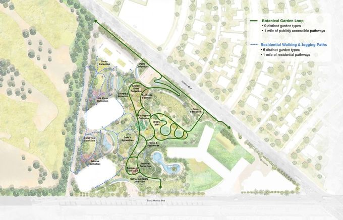 One Beverly hills: giardino botanico e percorso pedonale