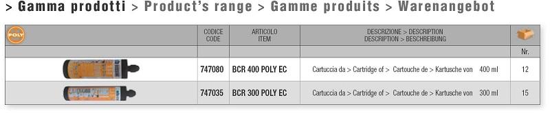 Gamma prodotto POLY EC