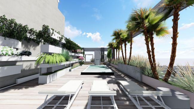 Progetto di rooftop del Soho park Residence di Cordoba Argentina, dell'architetto Mosca