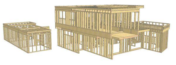 Studio della struttura per le ville di Bellusco