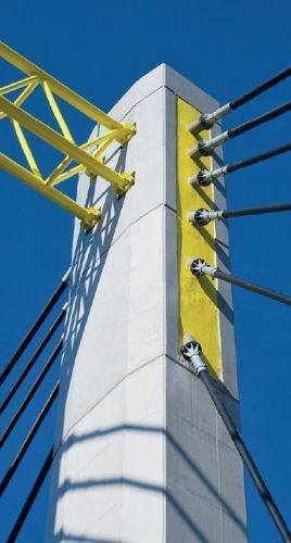 Parte terminale delle antenne porta stralli alla fine dei lavori