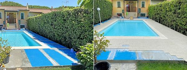 Pavimentazione con Prodeso Eco prima e dopo