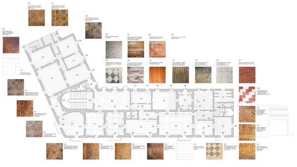 Pianta pavimenti di Palazzo Gulinelli