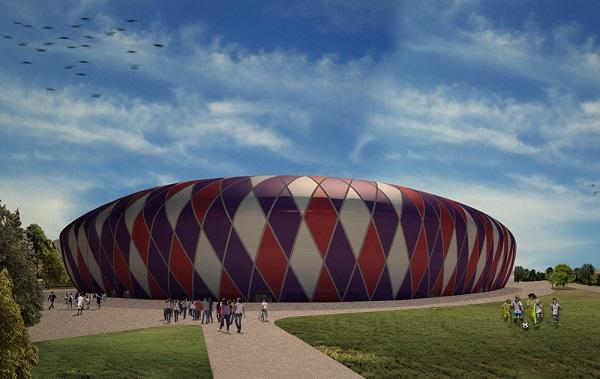Stadio progettato da Pierattelli Architetture