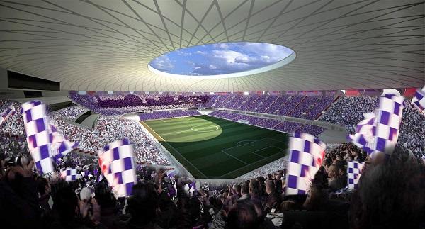 Vista interna dello stadio Viola